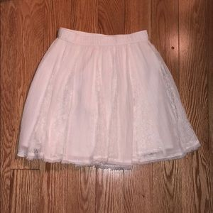 White skater skirt with lace detailing